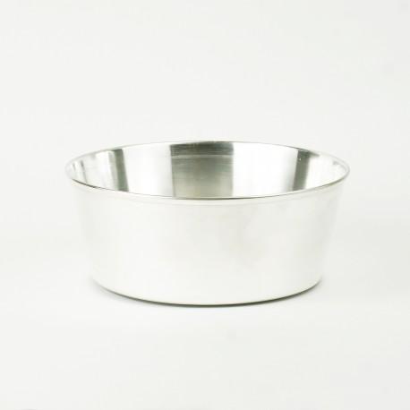 Średnia miska srebrna dla zwierząt do jedzenia