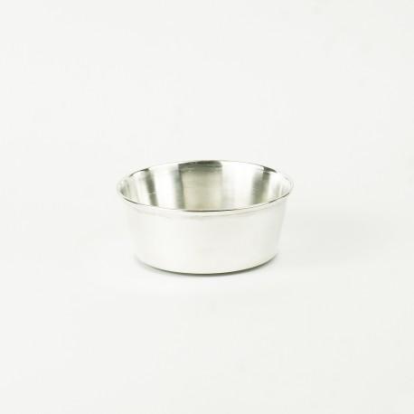 Mała miska srebrna dla zwierząt do jedzenia